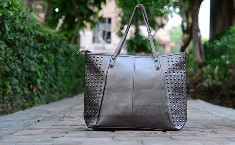 Grey Studded Totes