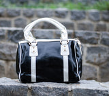 Black Glossy Duffle Hand Bags - Dailybuyys
