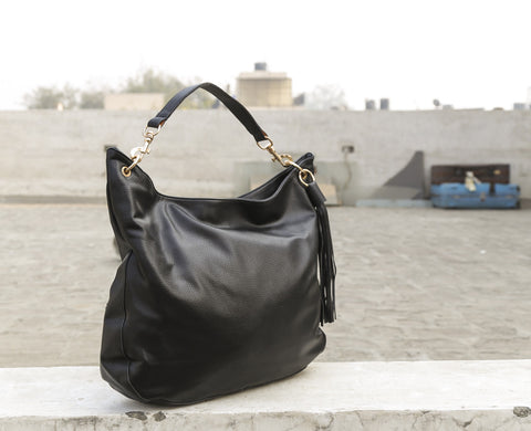 Black Big Hobo Totes