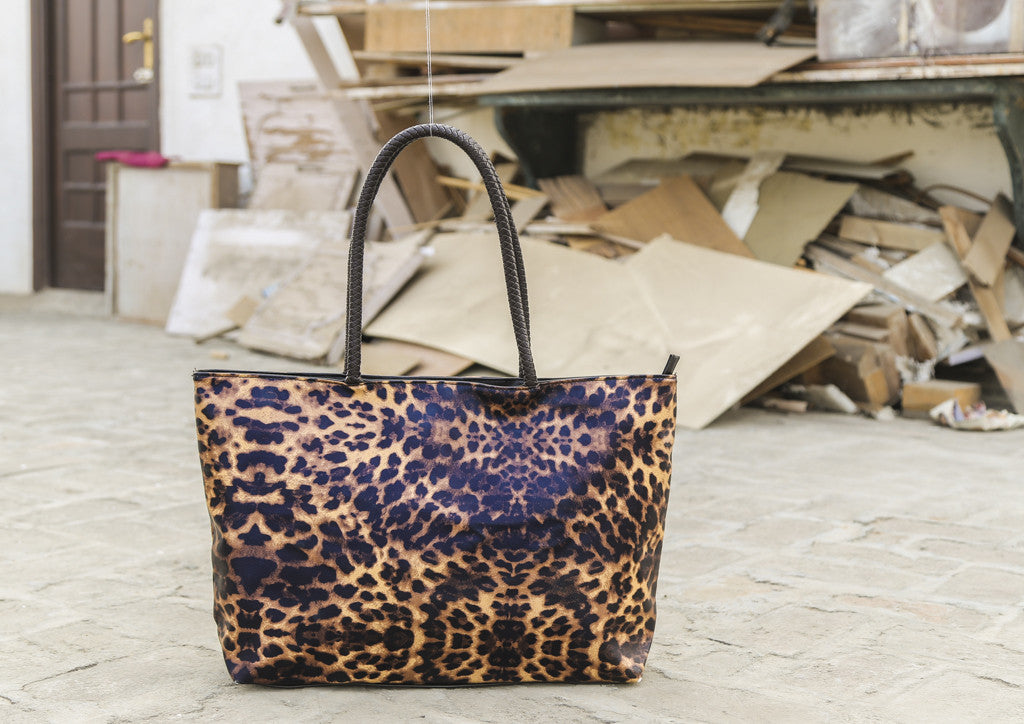 Brown Leopard Print Totes