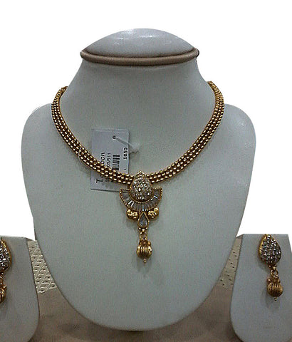 Beautiful Golden white stone necklace