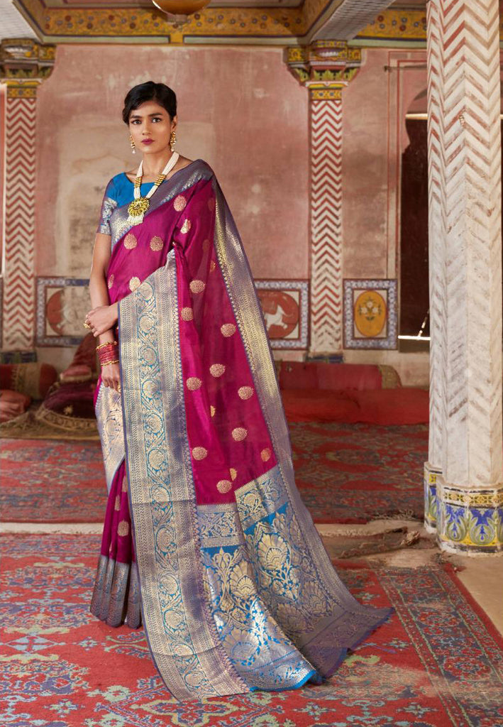 Violet Cotton Silk Sarees