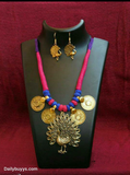 Gold finish necklace Jewellery Sets