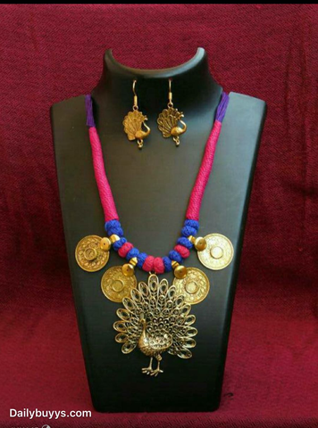 Beautiful white and red stone designed 2 Jewellery Sets