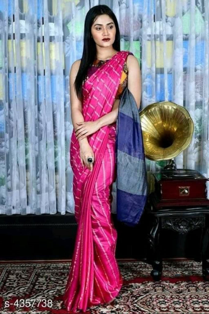Purple Cotton Silk Sarees