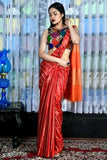 Red Cotton Silk Sarees