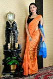 Orange Cotton Silk Sarees