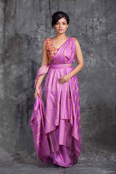 Violet Handloom Ghicha Sarees (Add to Cart Get 15% Extra Discount)