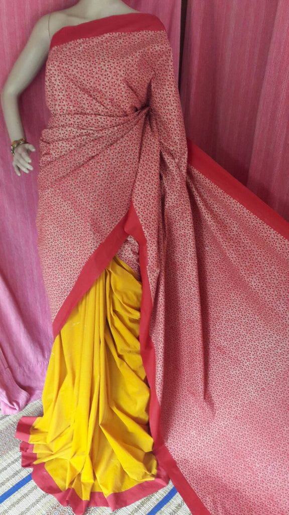 Pink Yellow Garad Silk Sarees