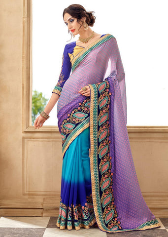 Multi Colour Designer Party Wear Sarees