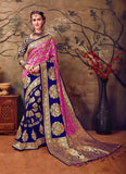 Pink & Blue Kanchivaram Silk Sarees