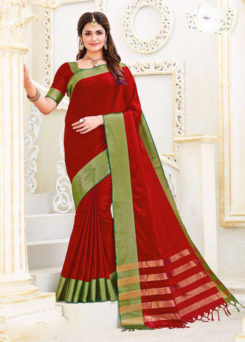 Red Kanchivaram Silk Sarees