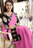 Pink Chanderi Cotton Sarees
