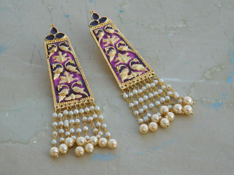 Violet Moti Earrings