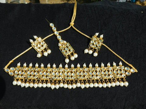 white stone 3 Jewellery Sets