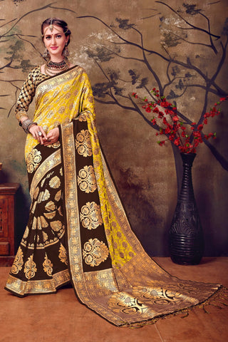 Brown Kanchivaram Silk Sarees