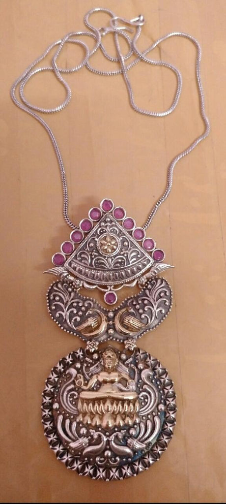 Pink Oxidise Silver Jewellery