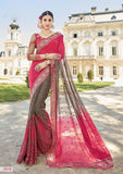 Pink Grey Party Wear Sarees