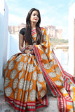 Yellow Chanderi Cotton Sarees