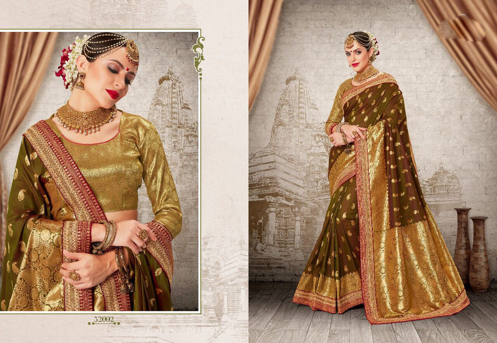 Maroon Golden Party Wear Sarees