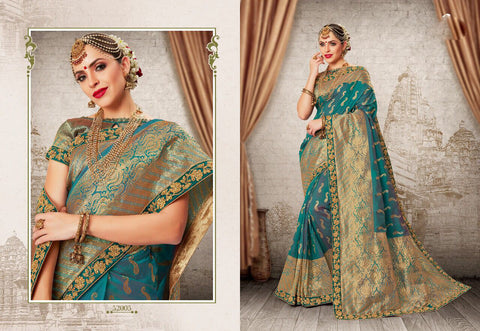 Sky Party Wear Sarees