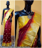 Maroon Yellow Kanchivaram Silk Sarees