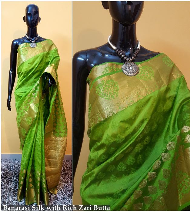 Green Kanchivaram Silk Sarees