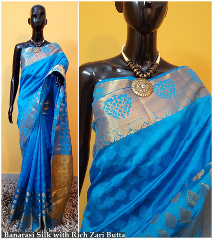 Blue Kanchivaram Silk Sarees