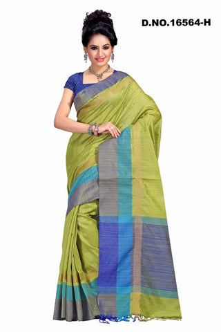 Green Raw Silk Sarees