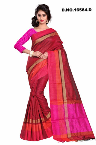 Maroon Raw Silk Sarees