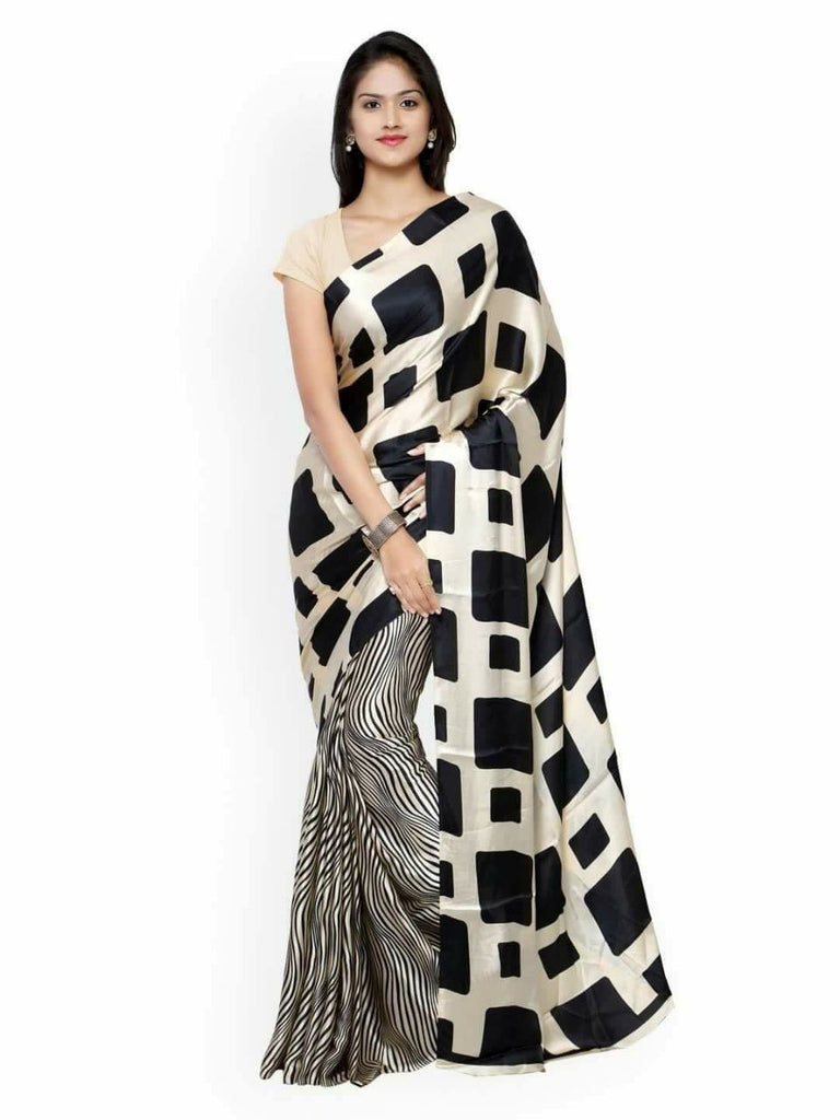 Black White Pure Murshidabad Silk Sarees (Add to Cart Get 15% Extra Discount)