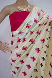 Pink Titli Chanderi Cotton Sarees