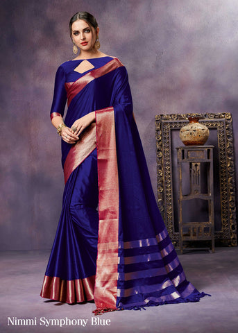Blue Pure Silk Sarees