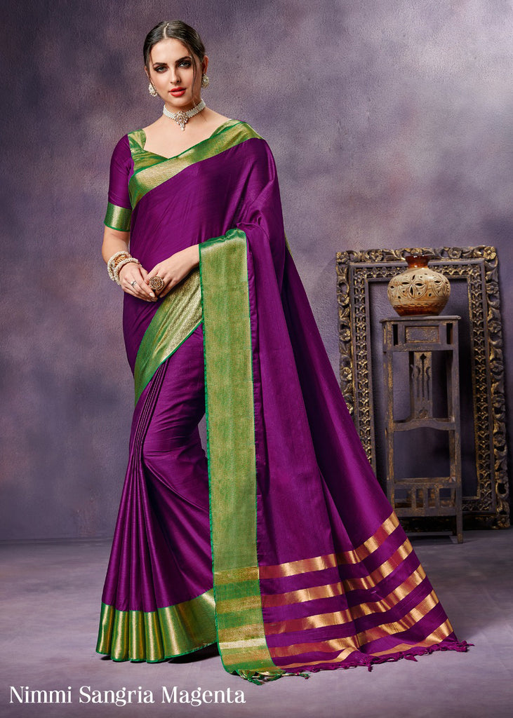Purple Pure Silk Sarees