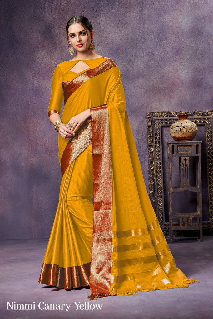 Yellow Pure Silk Sarees