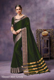 Green Pure Silk Sarees