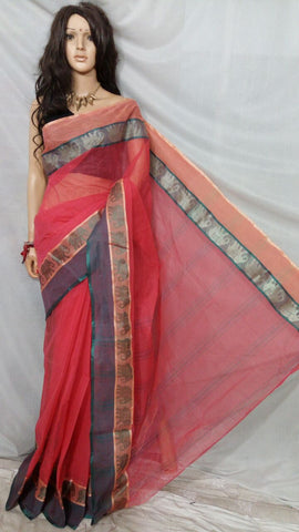 Red Tant Sarees