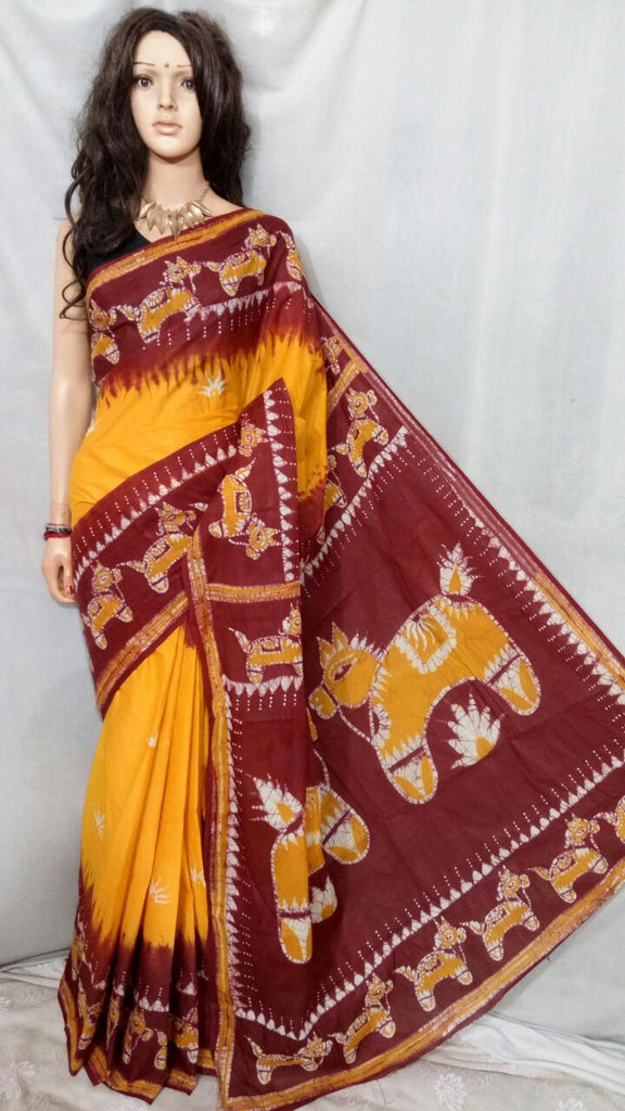 Maroon Yellow Boutique Special Sarees