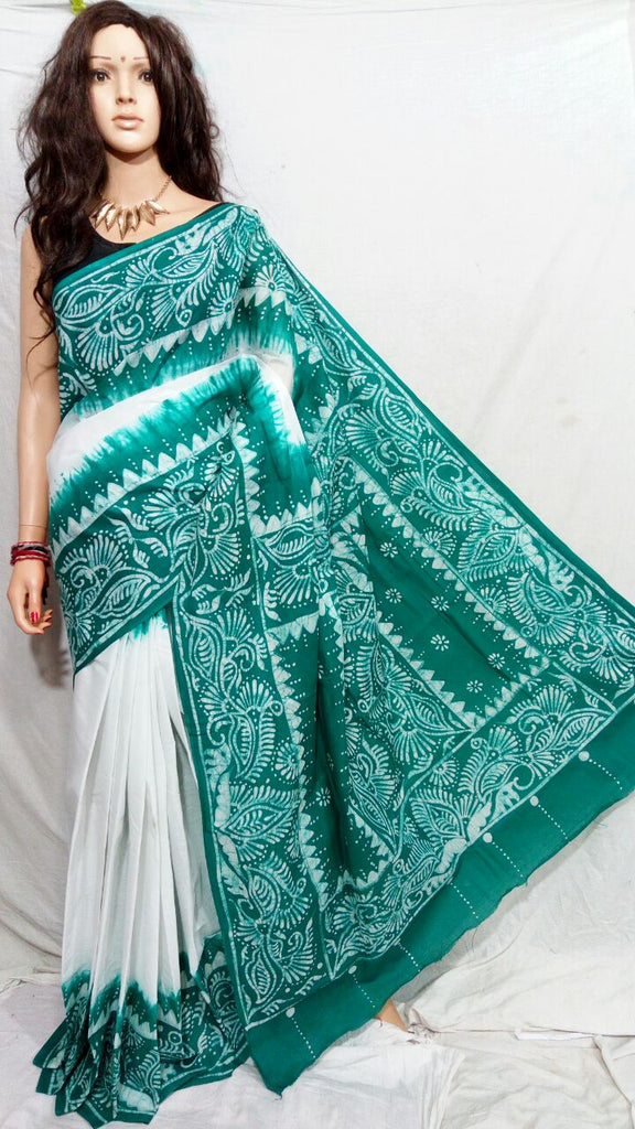 Green White Boutique Special Sarees