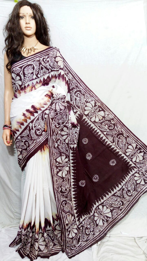 Maroon White Boutique Special Sarees