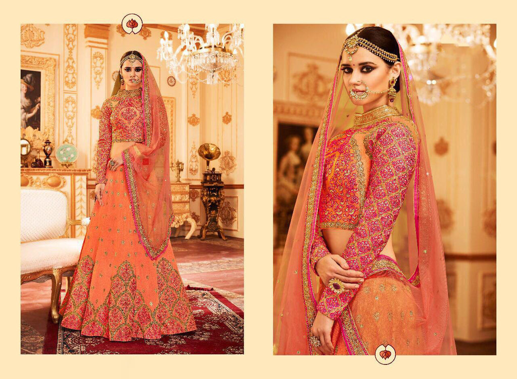 Orange Designer Lehenga Choli