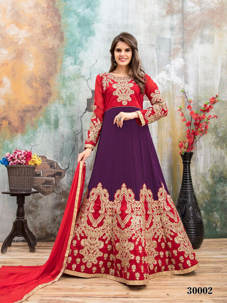 Purple Red Designer Lehenga Choli