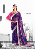 Purple Designer Party Wear Sarees