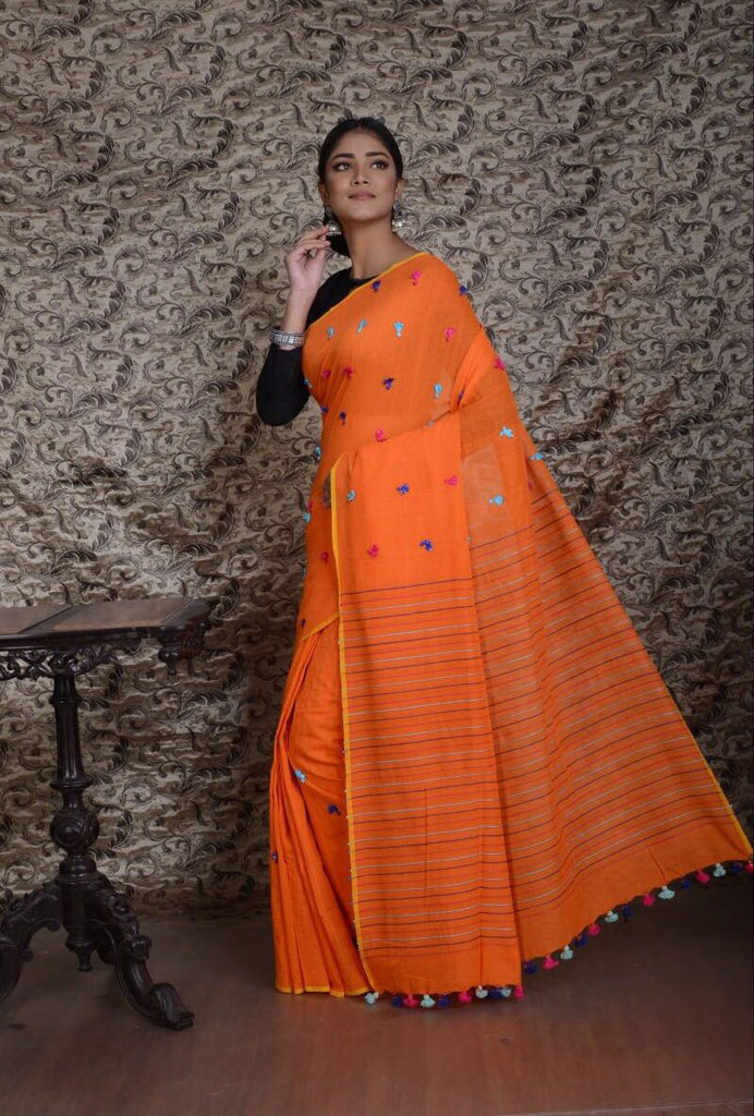 Orange KK Khadi Sarees