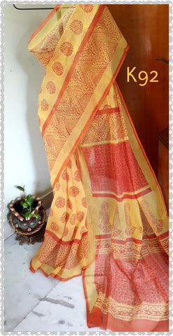Red Yellow KK Kota Doriya Sarees