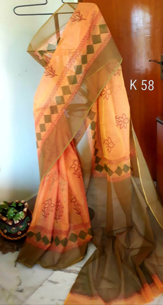 Green Yellow KK Kota Doriya Sarees