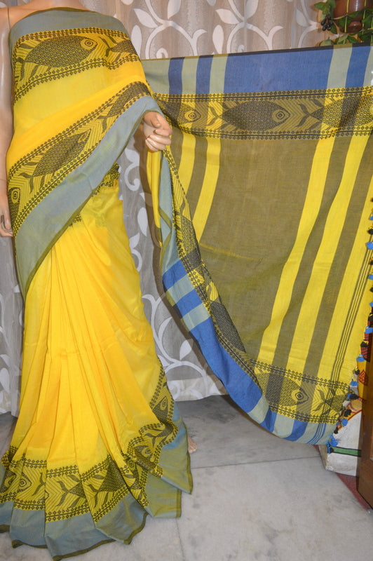 Yellow KK Khadi Sarees