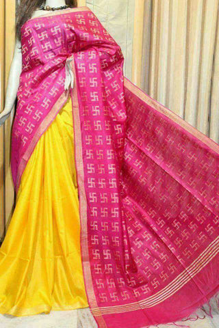 Black, Grey Bhagalpuri Silk Sarees