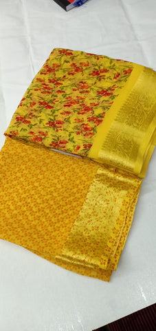 Yellow Designer Party Wear Sarees