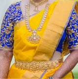 Yellow Uppada Silk Sarees
